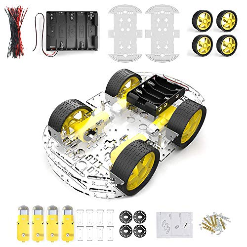 diymore 4 wielen voor robot Smart Car Chassis Kit model auto met snelheidsencoder (4WD)