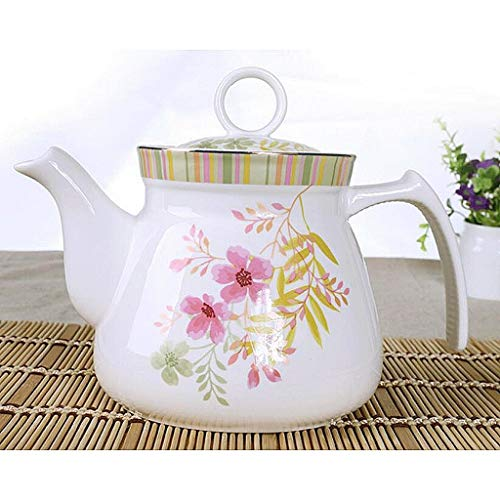 Exquisite Tea Cups Saucers Set Set Coffee Cup Ceramics Teapot Heat-Resistant High Capacity Single Pot Cold Water Household Large Cold Water Bottle Hot Water Bottle Tea Pot 1125ML UOMUN by Kinue (Image #1)