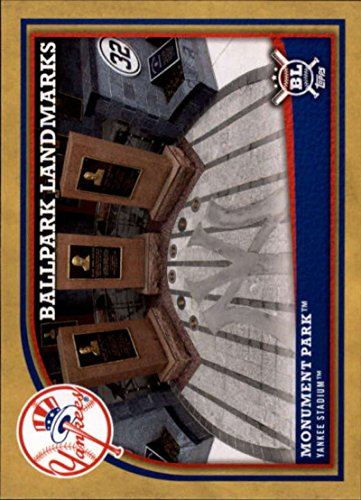 - 2018 Topps Big League Baseball Gold #365 Monument Park New York Yankees MLB Trading Card