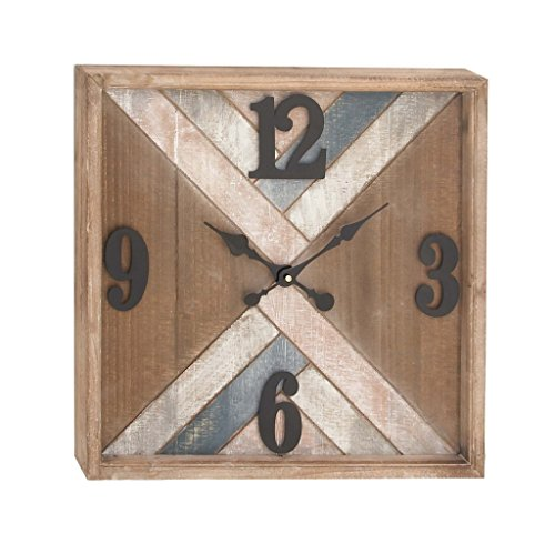 Deco 79 94628 Metal and Wood Wall Clock, 19