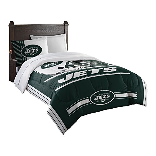 Officially Licensed NFL New York Jets Safety Twin Comforter and Sham