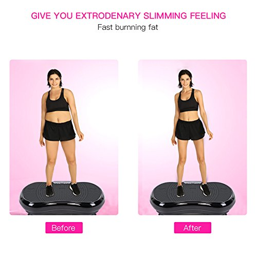 Vibration Plate Machine, Whole Body Vibration Platform Fitness Workout Muscle Trainer with Pulling Rope Body Shaper Exercise Equipment for Home by Estink (Image #6)