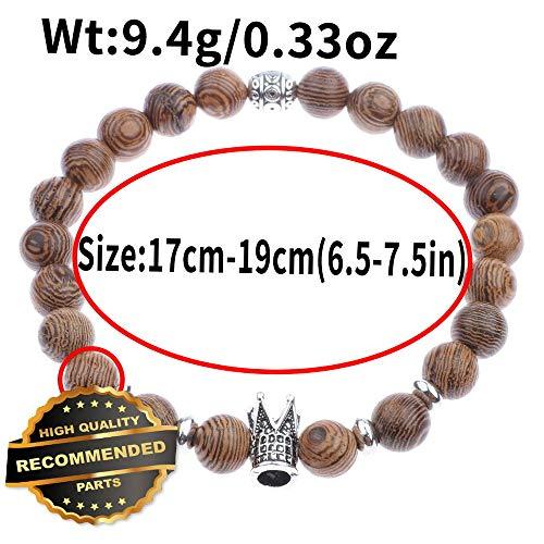 Gatton Fashion Mens Women 8MM Multilayer Wooden Beaded Elasticity Charm Bracelets Bracelet | Style GATBRC-1127284