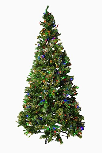 sports shoes 5ea63 6384b Mr. Light 9 Ft Pre-Lit Artificial Tree - 700 Dual Color LEDs, Red Berries,  Pine Cones and Mixed Pine PVC
