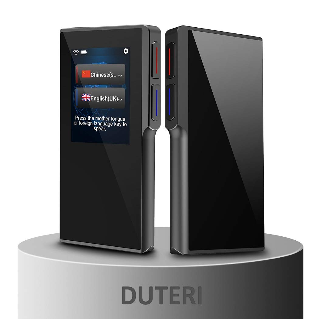 Translator Device with 2.4 Inch High Definition Toch Screen Support 70 Languages Smart Voice for Travelling Abroad Learning Off-Line Shopping Business Chat Recording Translations by Duteri