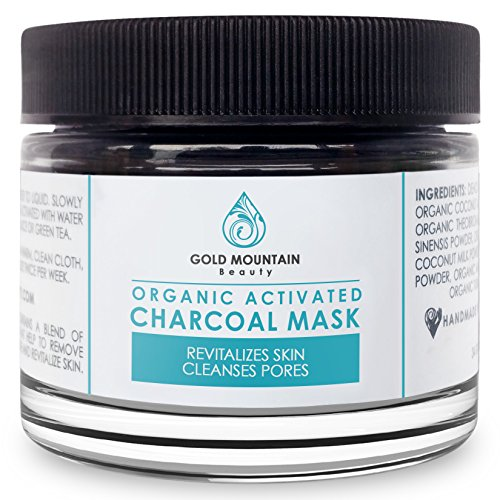 Organic Activated Charcoal Face Mask: Amazon.com : Natural Charcoal Teeth Whitening, Gentle Mint