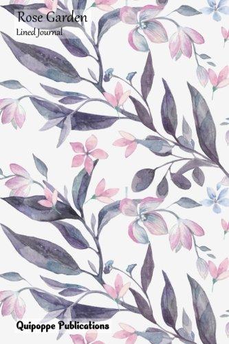 Rose Garden Lined Journal: Medium Lined Journaling Notebook, Rose Garden Almost Autumn Pattern JB6 Cover, 6x9