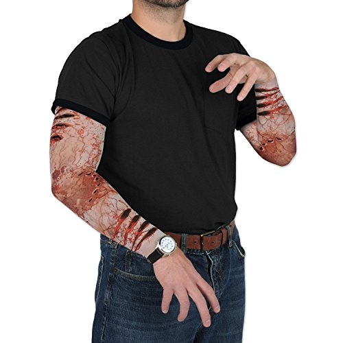 Beistle Club Pack Halloween Costume Zombie Bite Party Sleeves, Box of 12 Pair