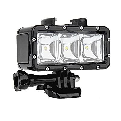 SHOOT Waterproof Diving Light High Power Dimmable LED Light Underwater Light for Gopro Hero 5/5S/4/4S/3+/3/2/SJCAM SJ4000/SJ5000/Xiaomi Yi with 1200mAh Built-in Rechargeable Battery Charging from SHOOT