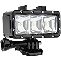 SHOOT Waterproof Diving Light High Power Dimmable LED Light Underwater Light for Gopro Hero 5/5S/4/4S/3+/3/2/SJCAM SJ4000/SJ5000/Xiaomi Yi with 1200mAh Built-in Rechargeable Battery Charging