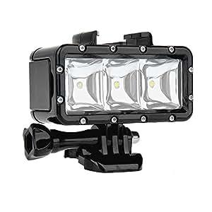 SHOOT Impermeabilizan la Luz Subacuática de la Luz de Destello del Poder Más elevado de Dimmable LED para GoPro Hero 5/4/3+/3/2/ SJCAM SJ4000/SJ5000 / Xiaomi Yi