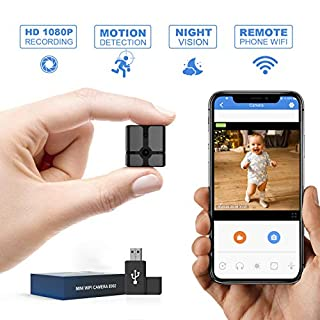 Mini Spy Camera WiFi, Ehomful 1080P HD Wireless Hidden Camera Live Streaming with App,Cop Spy Cam Seen On TV, Nanny Cam, Keep Your Home and Family Safe from Potential Thieves, Burglars or Damage