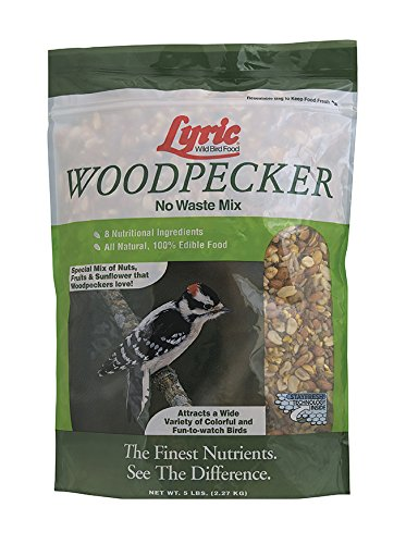 Lyric Woodpecker No-Waste Wild Bird Mix, 5 lb (Shelled Fruit)