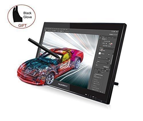 HUION® プロ向け デジタルペン付けのグラフィックモニター - グローブ付け 液晶タブレットGT-190