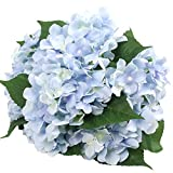 "Felice Arts Artificial Flowers 18"" Silk 7 Big Head Hydrangea Bouquet for Wedding, Room, Home, Hotel, Party Decoration"