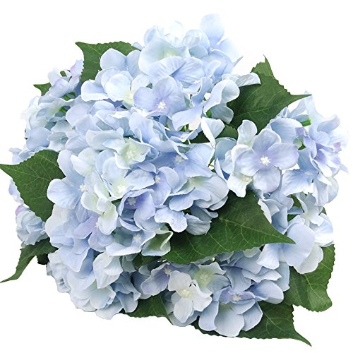 Felice Arts Artificial Flowers 18 Silk 7 Big Head Hydrangea Bouquet for Wedding, Room, Home, Hotel, Party Decoration