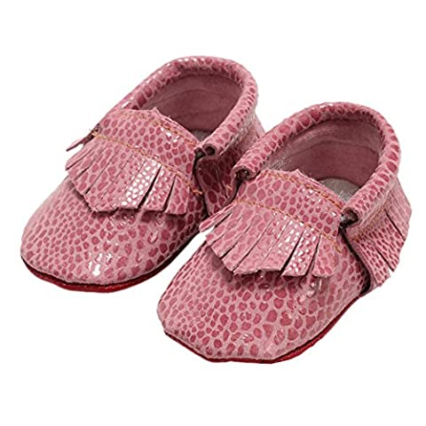Unisex Baby Genuine Leather Moccasins Boots Snake Print Soft Sole Prewalker Shoes A 12-18 Months - Genuine Snake Footwear