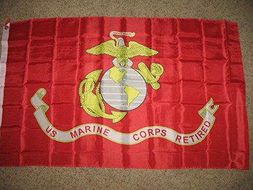 3X5 Us Usmc United States Marines Marine Corps Retired Flag 3'X5' Banner by Decorative Flag