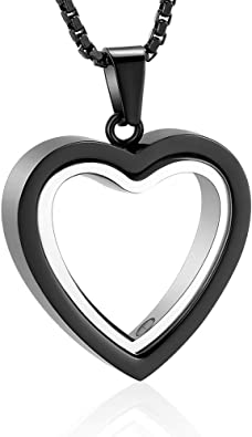 zeqingjw Tree of Life Cremation Necklace for Ashes Stainless Steel Memorial Ashes Urns Pendants Keepsake Cremation Jewelry