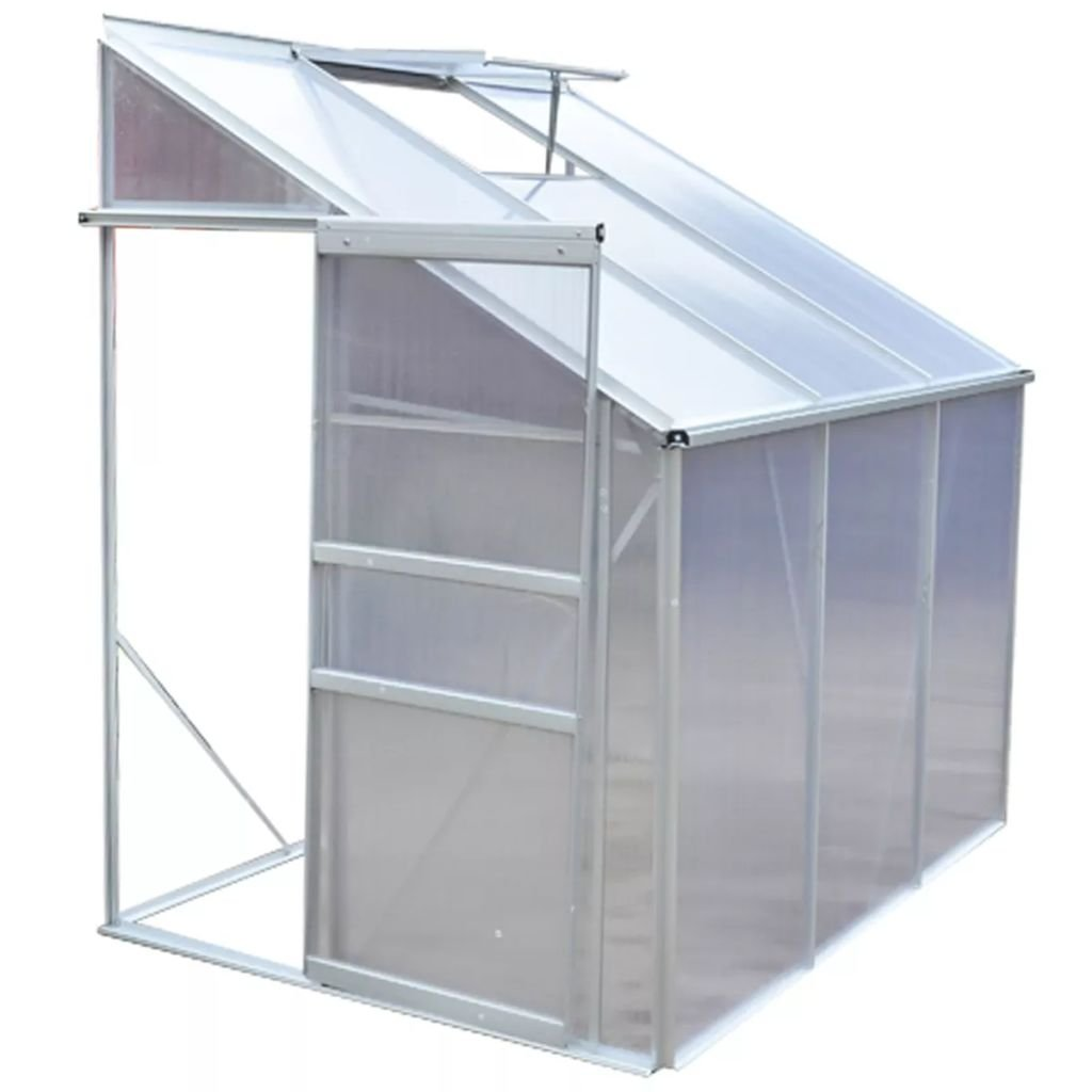 Alu Greenhouse Half 3 Sections Aluminium Alloy Frame with Polycarbonate Panels