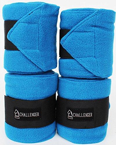 Horse Tack Grooming Leg set of 4 Fleece Polo Wrap Pacific Blue (Horse Leg Wrap)