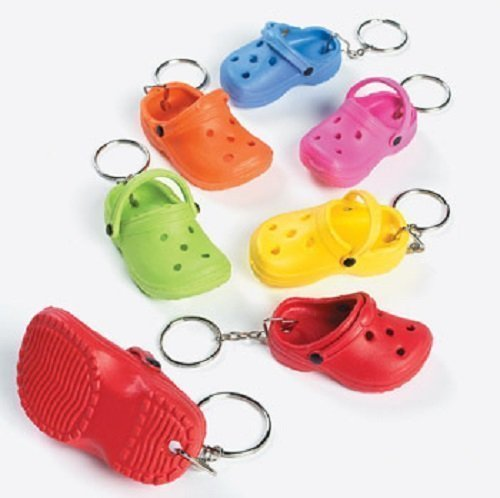 Rubber Clog Keychains by Fun Express
