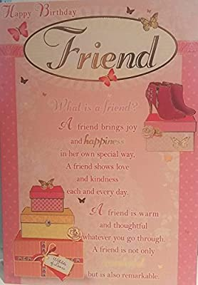Amazon happy birthday friend what is a friend female amazon happy birthday friend what is a friend female greeting card kitchen dining m4hsunfo