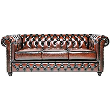 Amazon Com Abbyson Living Leather Sofa In Brown Kitchen Dining