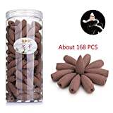 Mangetal Backflow Incense Cones, 168 Pcs Incense Cones Backflow Natural Smoke Various Scents Sandalwood Rose Lemon Sakura Ocean Lavender Cone Incense Backflow for Backflow Incense Burner (Eaglewood)