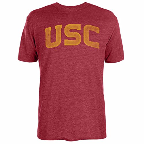 - Silver Star Casting Company USC Trojans Adult NCAA Vintage Arch T-Shirt - Cardinal, XX-Large
