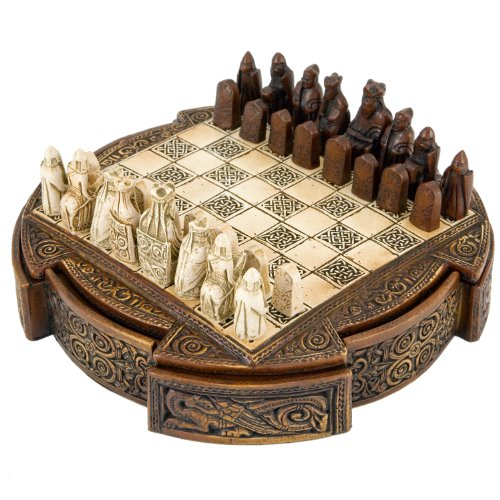 Isle Of Lewis Compact Celtic Chess Set 9 (Celtic Chess Board)