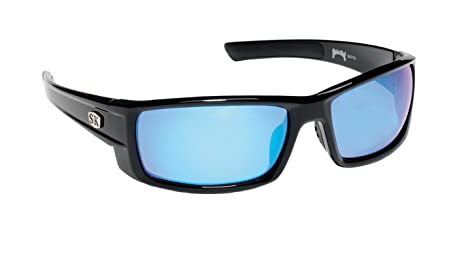343d44bb65 Amazon.com   Strike King Plus Sunglasses (Black Blue Mirror