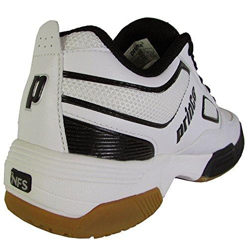 Prince Mens NFS Angriff Indoor Court Sneaker Schuhe Weiß / Schwarz / Silber