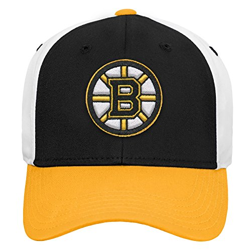 Outerstuff NHL NHL Boston Bruins Youth Boys Colorblock Structured Adjustable Hat, Black, Youth One Size
