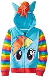 My Little Pony Little Girls\' Rainbow Dash Hoodie, Blue/Multi, 5/6