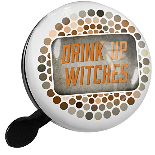 NEONBLOND Bike Bell Drink Up Witches Halloween Spooky Design Scooter or Bicycle Horn -