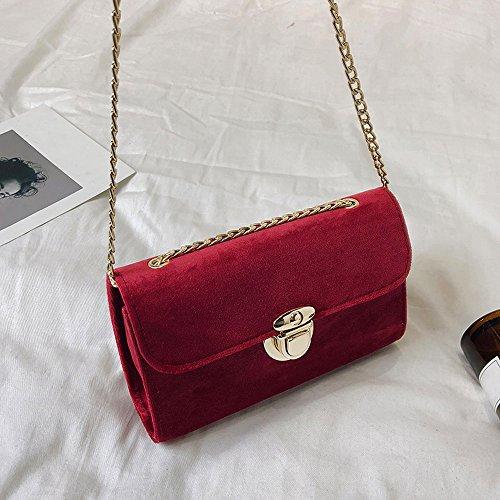 Clutches de Fiesta Mujer Bolso de Hombro Mujer de Piel de Gamuza Bolsa Bandolera Pequeño Mujer Terciopelo Dorado Color sólido Bolso de Noche Casual para ...
