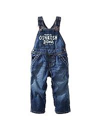 OshKosh B'gosh Baby Boys' Logo Overalls (Baby) - Vintage Wash - 3 Months