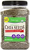 #1: BetterBody Foods Organic Chia Seeds with Antioxidants Calcium and Fiber, 2 Pound