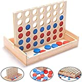 4 in a Row ,Classic Family Toys, Four-Game Winning Wooden Board Game, Children's Board Games and Home Entertainment, queuing 4, Intellectual Games