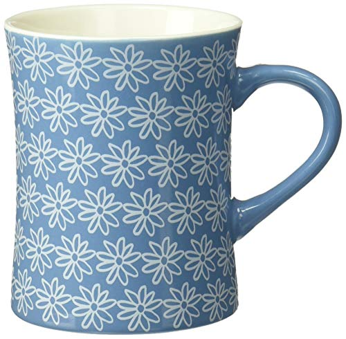 (Life is Good Diner Mug Daisy repeat, Powder Blue, One)