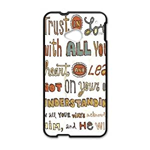 HTC One M7 Cell Phone Case Black_Peter Horjus Trust In the Lord Uolwe