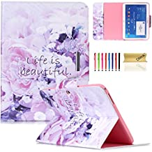 Galaxy Tab 4 10.1 Case,Dteck(TM) Cartoon Cute Premium Synthetic Leather Smart Cover with [Auto Sleep/Wake Function] Wallet Case for Samsung Galaxy Tab 4 10.1 inch SM-T530 (03 Life is Beautiful)