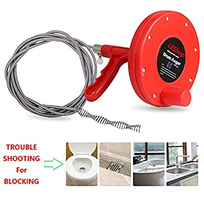 Drain Snake,LEShop Drain Auger Great Drain Clog Remover Use For Plumbing Snake Pipe Cleaner,Sewer/Bathtub Drain/ Kitchen Sink Cleaner