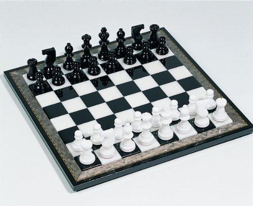 Schachspiel aus Alabaster schwarz/weiß (Höhe (Höhe (Höhe König 75mm) 84075f