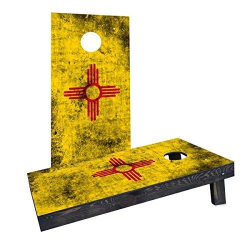 激安価格の Custom Cornhole Boards Boards State CCB1177-AW Worn State (New Mexico) Flag Flag Cornhole Boards [並行輸入品] B07HLGBB5G, 【正規通販】:225a157c --- arianechie.dominiotemporario.com