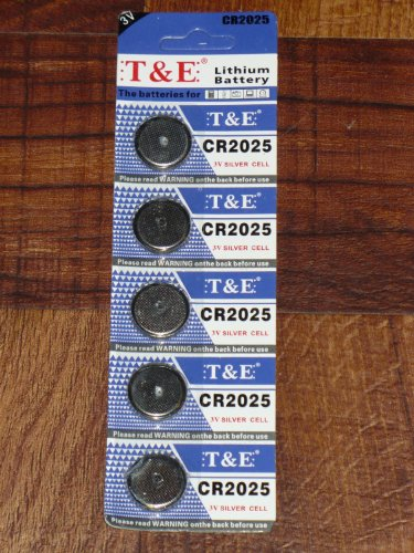 5-pack-te-cr2025-3v-lithium-coin-cell-battery-for-calculators-watches-handheld-electronics-portable-