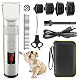 Avaspot Dog Clippers, Professional CordlessElectric Pet Clippers, Low NoiseDog Grooming Clipper Kit RechargeableDog Cat Shaver, Hair Trimmer for Thick Coats Small Dog All Pets