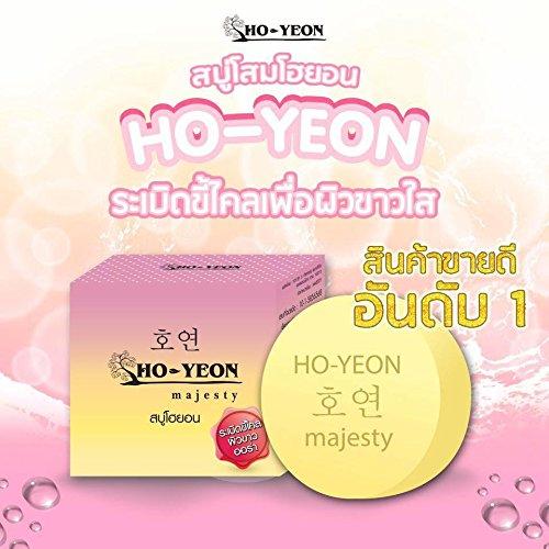 3pcs x ho-yeon blanco Jabón Exfoliante Blanqueamiento Aura Lightening cuerpo scurf Remover 80G..... Envío gratuito.