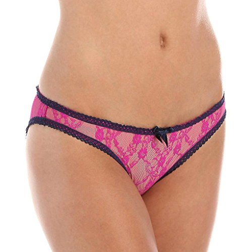 L'Agent by Agent Provocateur Womens Monica Mini Brief Pink and Navy Small S